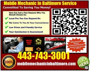 Mobile Mechanic Pikesville Maryland Auto car repair service shop on wheels